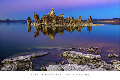 Photograph - South Tufa by PhotoWorks By Don Hoekwater