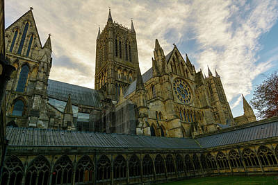Photograph - South View Of Lincoln Cathedral by Jacek Wojnarowski