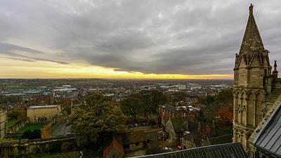 Photograph - South View Of Lincoln, England by Jacek Wojnarowski