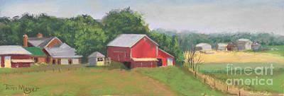 South View Of Meyer Farm Art Print by Terri  Meyer