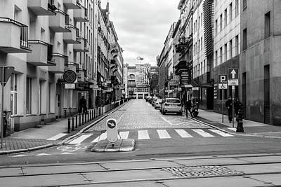 Photograph - South View Over Nowowiejskiego Street Poznan Poland by Jacek Wojnarowski