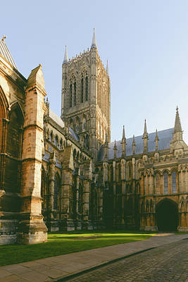 Photograph - South View Over Tower And Facade Of Lincoln Cathedral by Jacek Wojnarowski