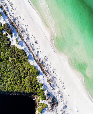 Photograph - South Walton Dune Barrier Aerial by Kurt Lischka