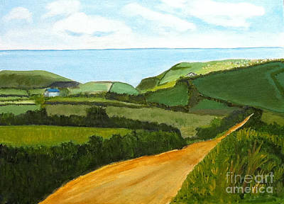 South West England Countryside Cotswold Area Art Print