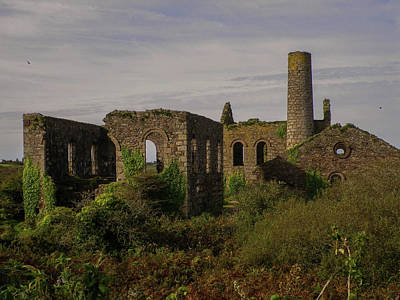 Photograph - South Wheal Frances Mining Ruins Cornwall by Richard Brookes