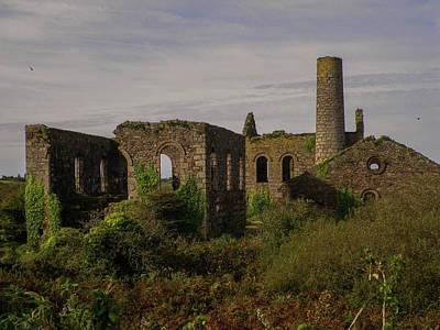 Photograph - South Wheal Frances Mining Ruins Cornwall by Richard Brookes