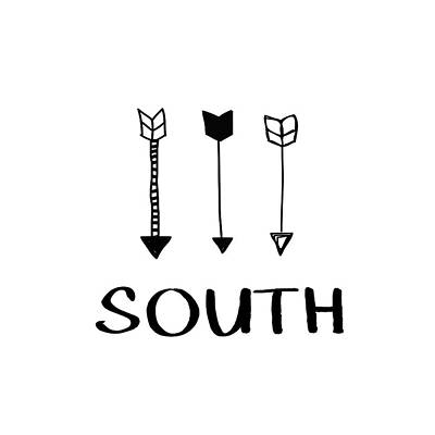 Digital Art - South With Arrows- Art By Linda Woods by Linda Woods