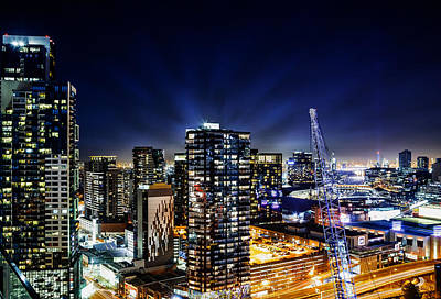 Photograph - Southbank Melbourne By Night by Georgiana Romanovna