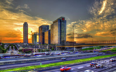 Photograph - Southbound Traffic Atlanta Midtown Sunset Art by Reid Callaway