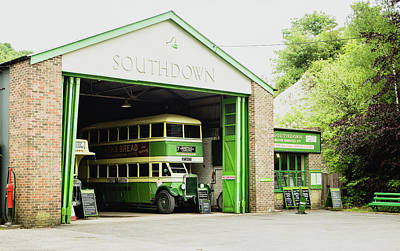 Old Bus Stations Photograph - Southdown Bus by Angela Aird