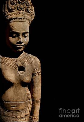 Photograph - Southeast Asian Spiritual Statue - Cambodia by Louise Fahy