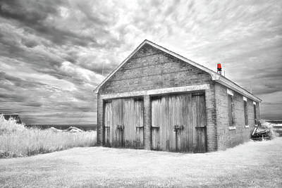 Photograph - Southeast Light Boathouse- Black And White by Luke Moore