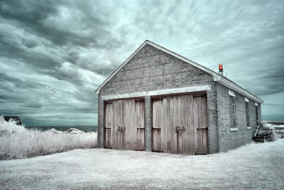 Photograph - Southeast Light Boathouse by Luke Moore