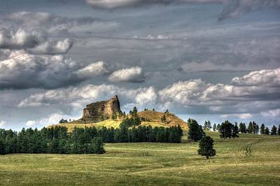 Photograph - Belltower Butte by Dave Rennie