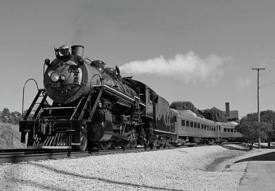 Photograph - Southern 2-8-0 #630 Bw by Joseph C Hinson Photography