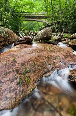 Southern Appalachian Mountain Stream Bridge Art Print by Mark VanDyke