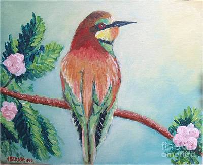 Painting - Southern Bee-eater by Jean Pierre Bergoeing