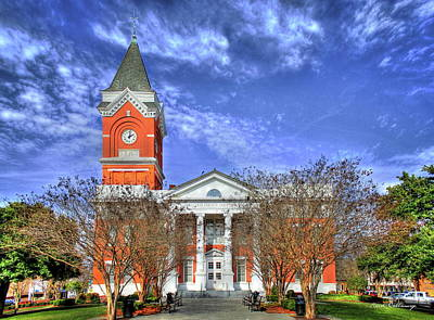 Photograph - Southern Bell Bulluck County Courthouse Statesboro Georgia by Reid Callaway