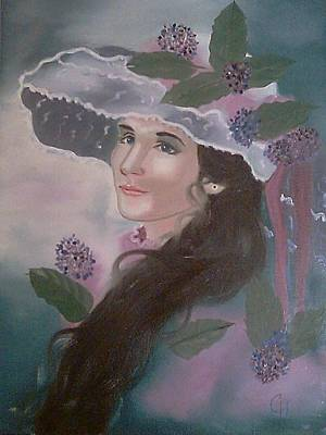 Tea Party Painting - Southern Belle by Carol Lones