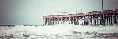 Southern California Pier Retro Panorama Photo Art Print by Paul Velgos