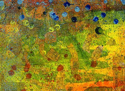 Southern California Splatter Map - Long Beach Original by Sean Corcoran