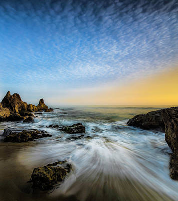 California Seascape Photograph - Southern California Sunset by Larry Marshall