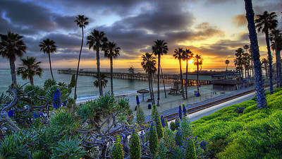 San Clemente Beach Photograph - Southern California Sunset by Sean Foster