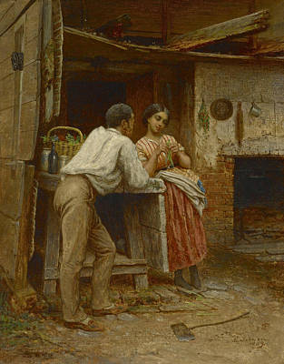 Southern Art Painting - Southern Courtship by Eastman Johnson