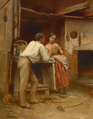 Southern Courtship Art Print
