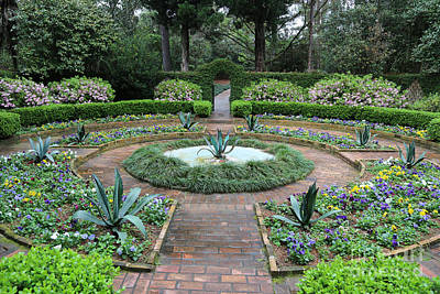 Thomas Kinkade - Southern Garden Courtyard by Carol Groenen