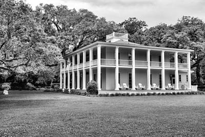 Photograph - Southern Graces Black And White by JC Findley