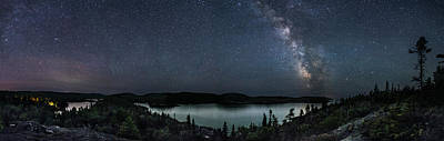 Gichigami Photograph - Southern Headland Midnight Panorama by Jakub Sisak