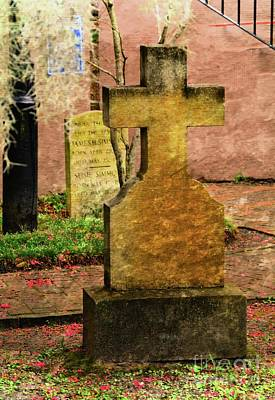 Photograph - Southern Headstone by Debbie Green