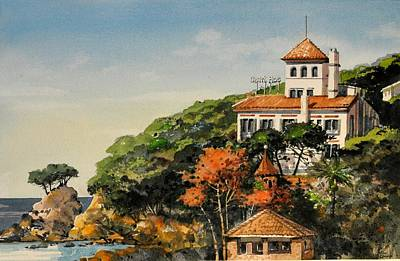 Painting - Southern Hills Of Calella by Robert W Cook