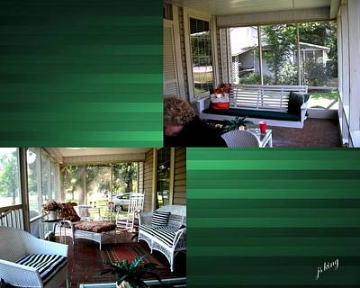 Southern Comfort Digital Art - Southern Homes Front Porch by Jacquie King