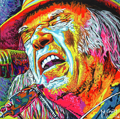Neil Young Painting - Southern Man by Michael Emory