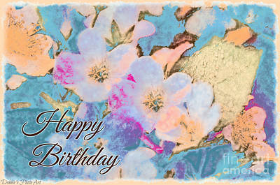 Photograph - Southern Missouri Wildflowers -1 Birthday Card by Debbie Portwood