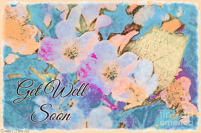 Photograph - Southern Missouri Wildflowers -1 Get Well  Card by Debbie Portwood
