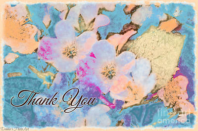 Photograph - Southern Missouri Wildflowers -1thank You Card by Debbie Portwood