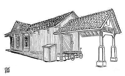 Southern Pacific Depot, Skull Valley, Az Original