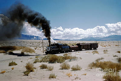 Photograph - Southern Pacific Steam Locomotive 9 Runs In The Owens Valley by Wernher Krutein