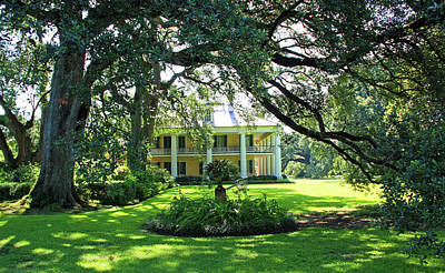 Photograph - Southern Plantation House by Inspirational Photo Creations Audrey Taylor
