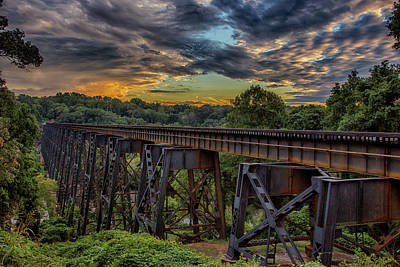 Wall Art - Photograph - Southern Railway Trestle by Cliff Middlebrook
