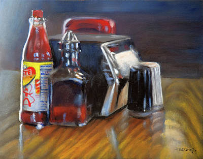Ketchup Painting - Southern Sauces by Christopher Reid