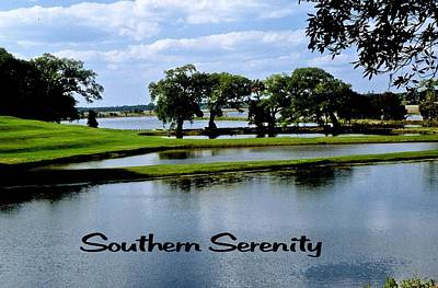 Photograph - Southern Serenity by Gary Wonning