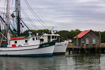 Photograph - Southern Shrimp Boats by Dale Powell