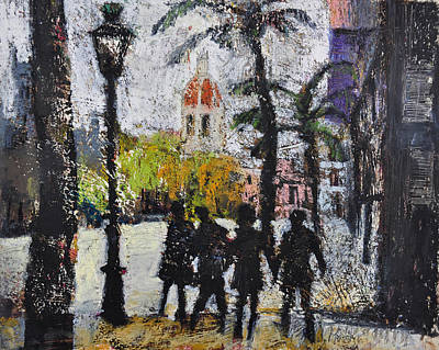 Painting - Southern Street Life , Valencia,spain by Martin Stankewitz