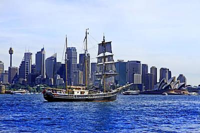 Photograph - Southern Swan And City Of Sydney by Miroslava Jurcik
