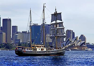 Photograph - Southern Swan And Sydney Opera House by Miroslava Jurcik