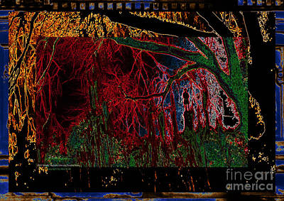 Digital Art - Southern Trees And The Strange Fruit They Bear No. 1 by Aberjhani's Official Postered Chromatic Poetics